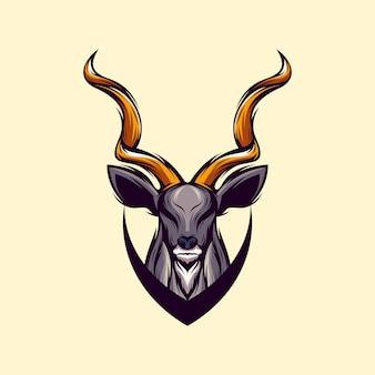 Vetor de design de logotipo de veado incrível