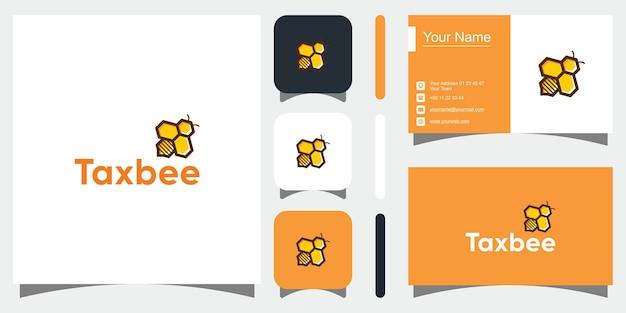 Vetor de design de logotipo de vetor de abelha natural vetor premium