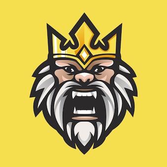 Vetor de design de logotipo king