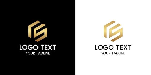 Vetor de design de logotipo letra cs