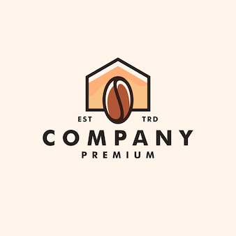 Vetor de design de logotipo para casa café