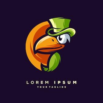 Vetor de design de logotipo tucano