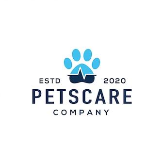 Vetor de design de logotipo veterinário.