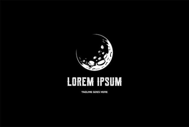 Vetor de design de logotipo vintage retro lua crescente