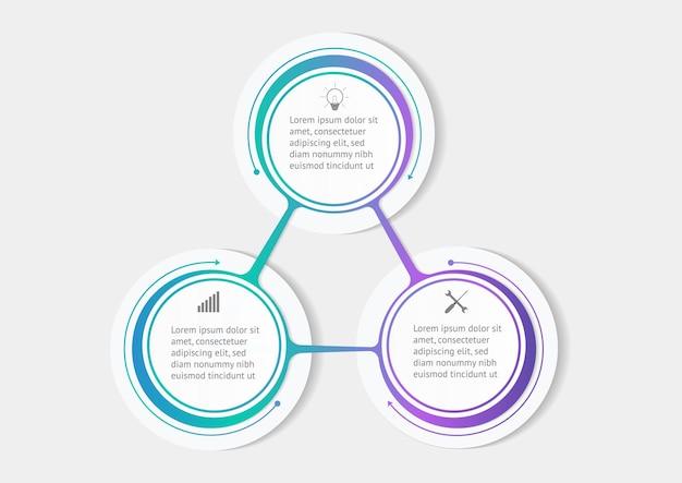 Vetor de design de modelo de infográficos de círculo