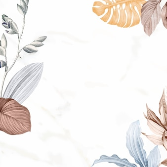 Vetor de design de moldura de folhas tropicais