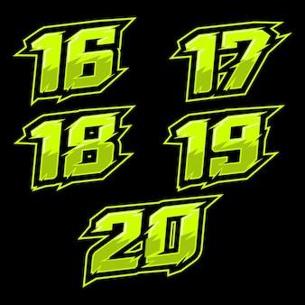 Vetor de design de número de corrida