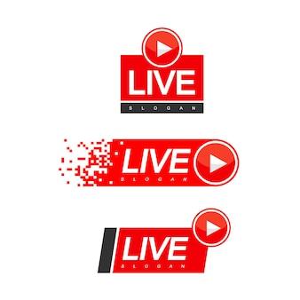 Vetor de design de transmissão ao vivo