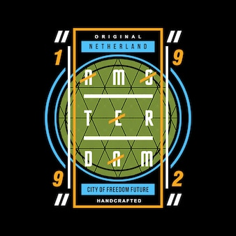 Vetor de design gráfico de círculo abstrato camiseta