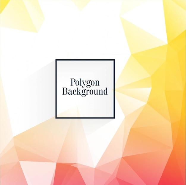 Vetor de design lindo colorido brilhante polígono