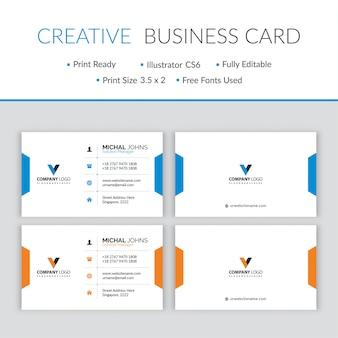 Vetor de design minimalista moderno cartão de visita