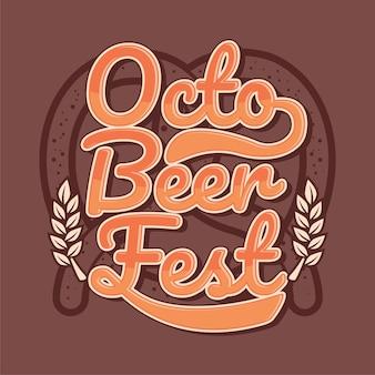 Vetor de design octo beer fest