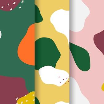 Vetor de design padrão colorido memphis