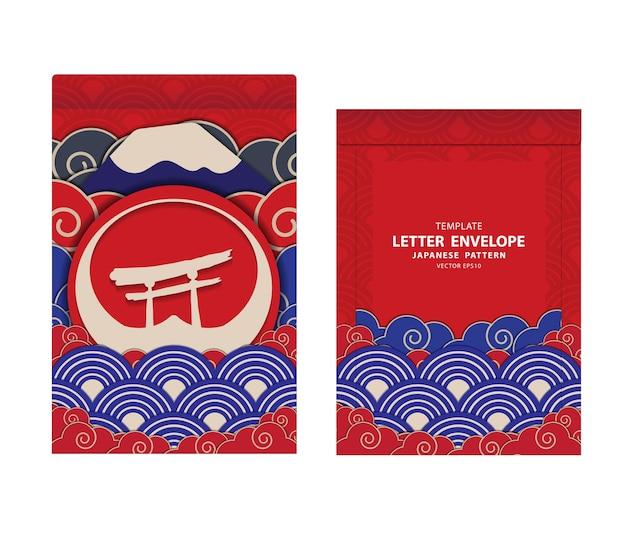 Vetor de design padrão japonês