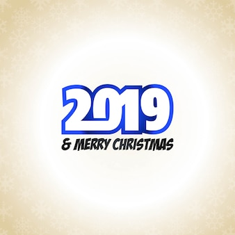 Vetor de design tipográfico de ano novo de 2019