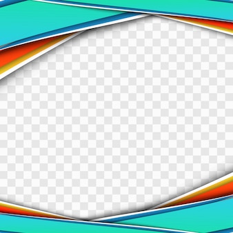Vetor de design transparente de onda empresarial moderno colorido