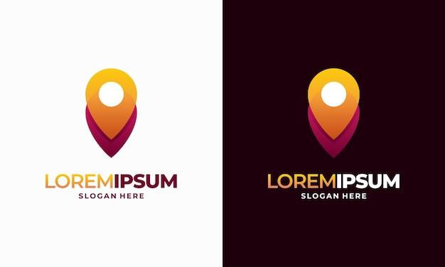 Vetor de designs de logotipo de ponta de pino moderno, símbolo de ícone de modelo de logotipo de navegação do pointer
