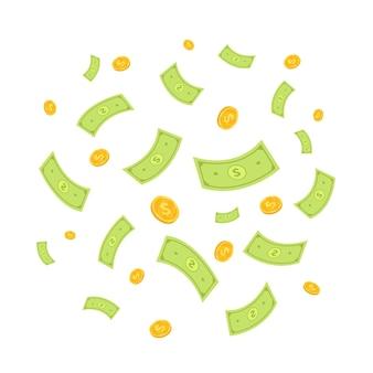 Vetor de dinheiro voador