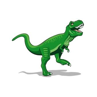 Vetor de dinossauros de monstro t-rex