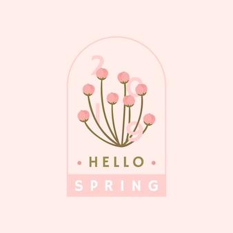 Vetor de distintivo de flor de cerejeira rosa