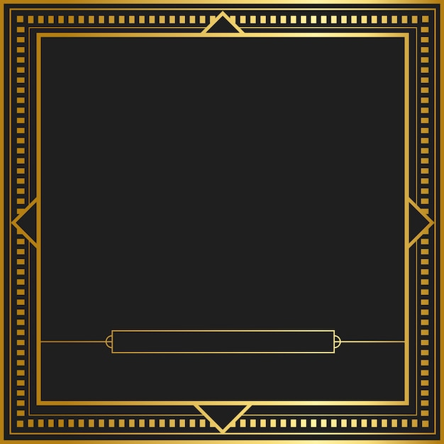 Vetor de distintivo de nouveau art nouveau vintage