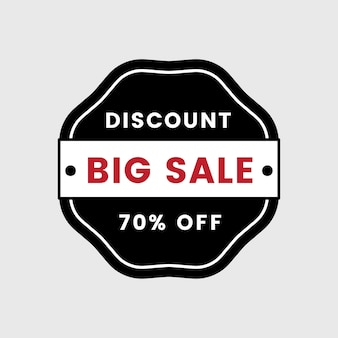 Vetor de distintivo de venda de 70% de desconto