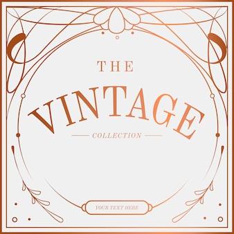 Vetor de distintivo luxuoso vintage art nouveau