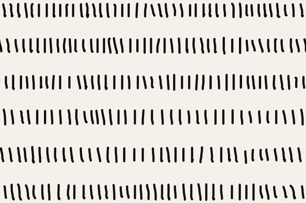 Vetor de doodle preto de fundo padrão alinhado, design simples