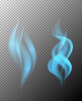 Vetor de duas chamas azuis