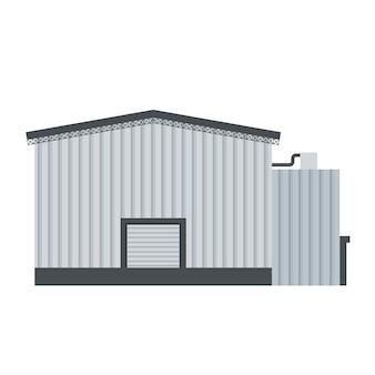 Vetor de edifício industrial para fabricação de produtos