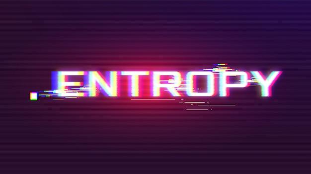 Vetor de efeito de falha de entropia com cores vivas