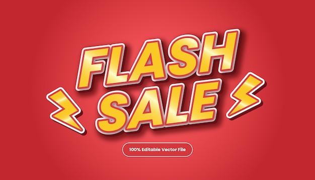 Vetor de efeito de fonte de estilo de texto de título de promoção vermelha. estilo de texto editável de venda em flash.