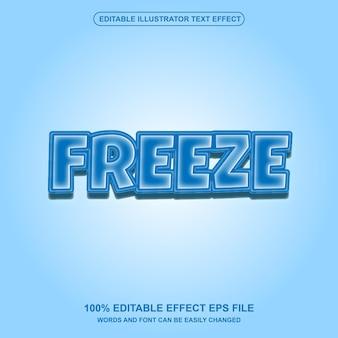 Vetor de efeito de texto editável freeze ice