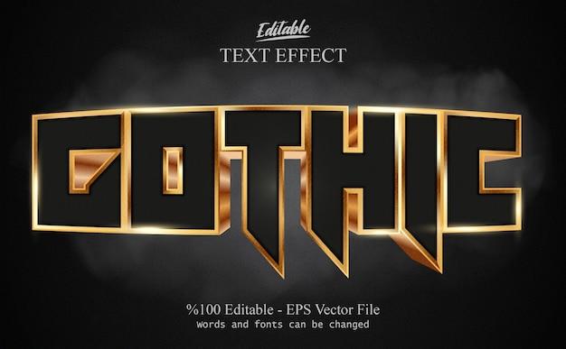 Vetor de efeito de texto editável gótico
