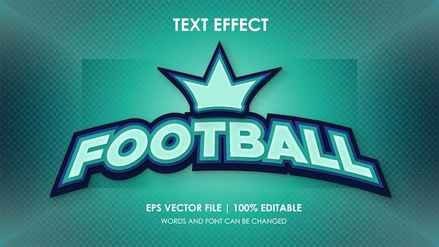 Vetor de efeito de texto futebol editável