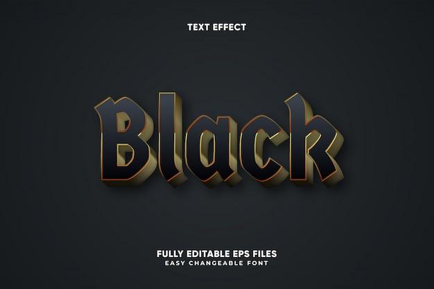 Vetor de efeito de texto preto editável