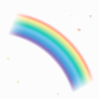 Vetor de elemento de curva de luz de arco-íris