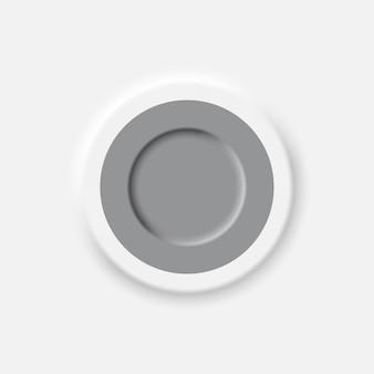 Vetor de elemento de design de botão de interface de estilo neomórfico