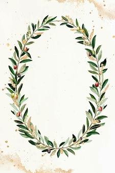 Vetor de elemento de design de coroa de oliva