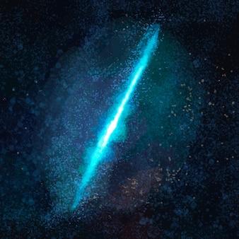 Vetor de elemento estético de galáxia em fundo preto