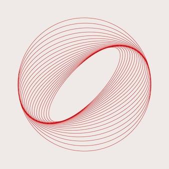 Vetor de elemento geométrico circular abstrato