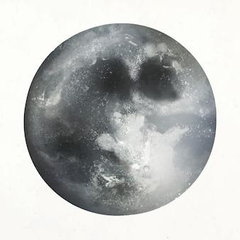 Vetor de elemento realista de lua cheia