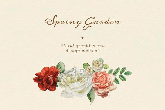 Vetor de elementos de design de buquê de flores