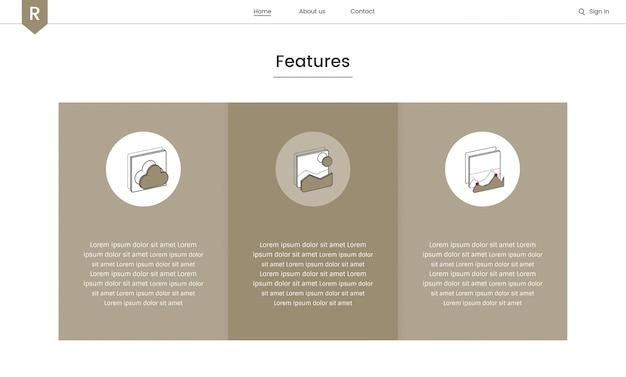 Vetor de elementos do site para web design