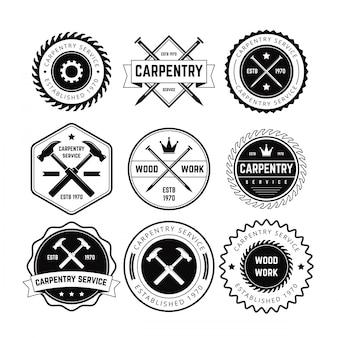Vetor de emblema da carpintaria