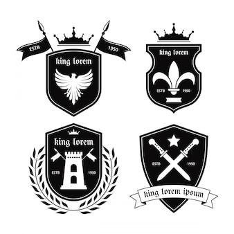Vetor de emblemas de cavaleiro
