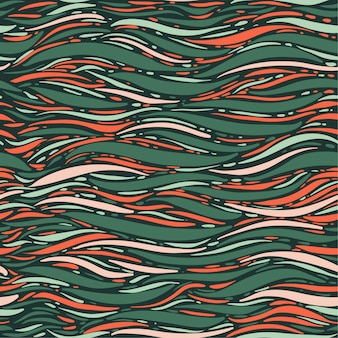 Vetor de escova elegante mão colorido vetor de onda marinha do oceano