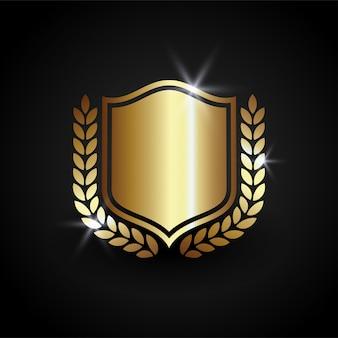 Vetor de escudo de luxo