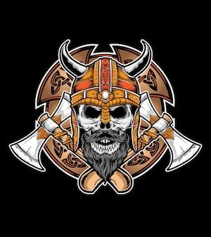Vetor de escudo viking