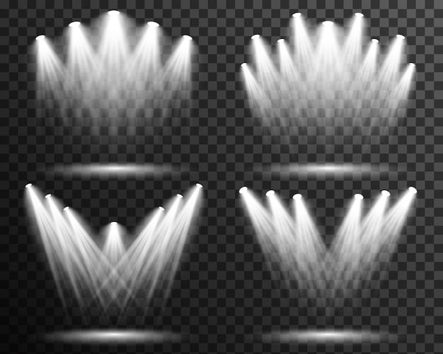 Vetor de estágio de coleção de iluminação luz spot transparente